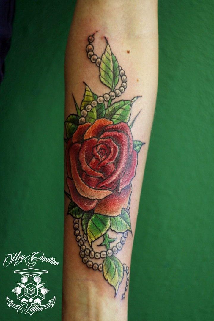 Розы в татуировках фото 1